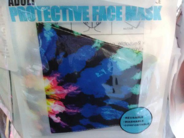 Dark Multi Color Tie Dye Mask DMCM