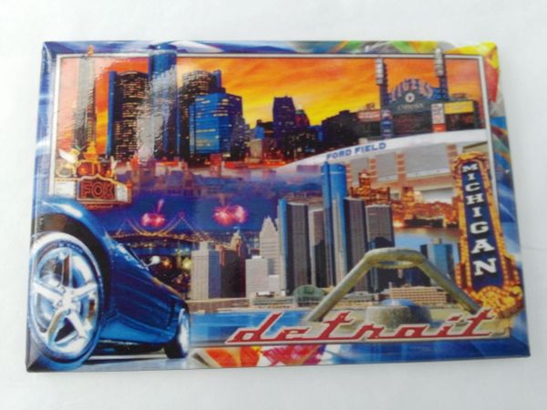Detroit Collage Magnet