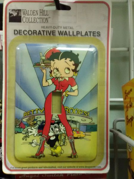 BB Diner Wall Plate boop15