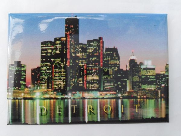 Detroit at Night Magnet 1440