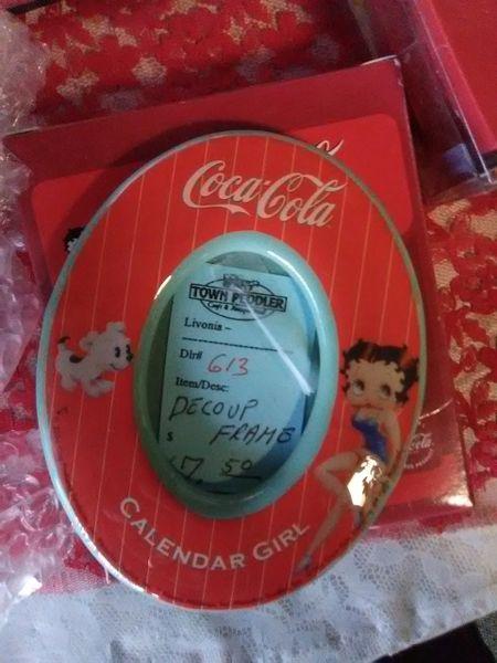 BB Coca Cola Calendar Girl Frame boop54