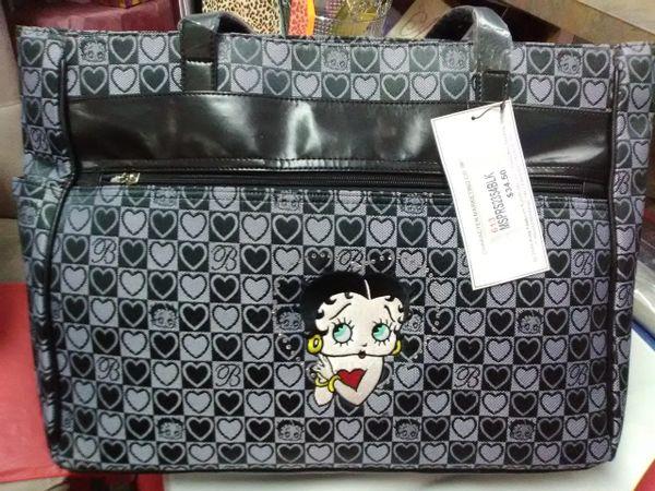 Betty Boop Lg Grey Handbag boop124