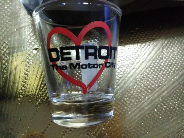 Detroit 2 Shot Glass 1451