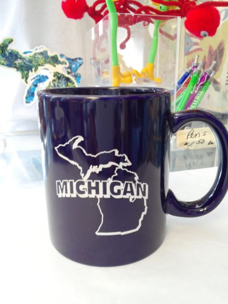 Navy Michigan Mug