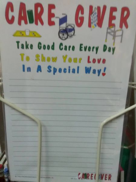 Care Giver Notepad CGN