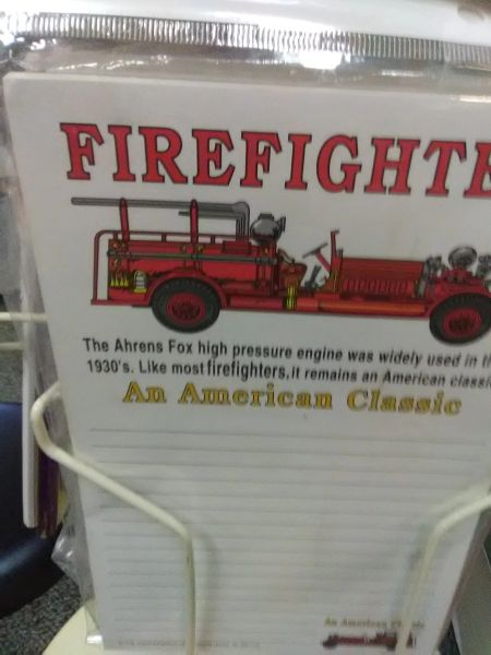 Firefighter Classic Notepad FCN