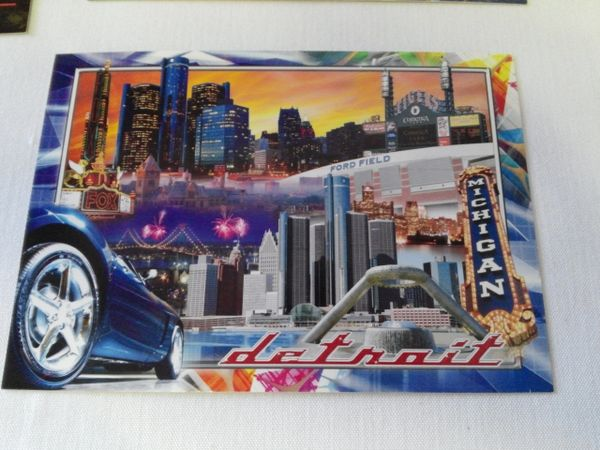 Detroit Collage Postcard