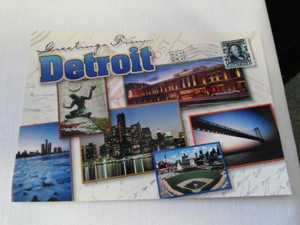 Detroit Images Postcard