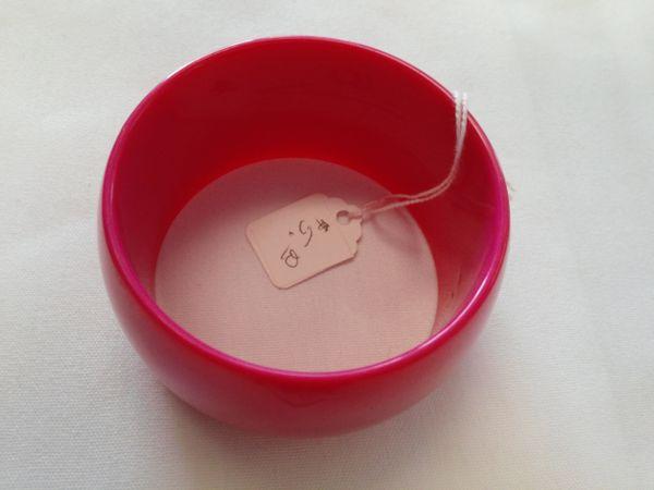 Wide Pink Bracelet