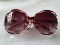 Burgundy Stripe Sunglasses