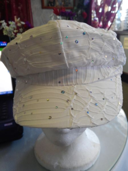 White Newsboy Hat