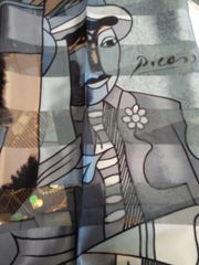 Grey and Black Picasso Scarf