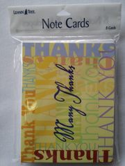 Thank You Note Cards #1882