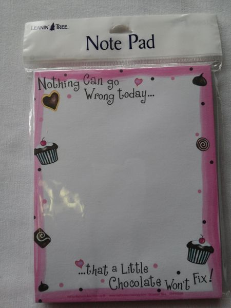 Chocolate Note Pad