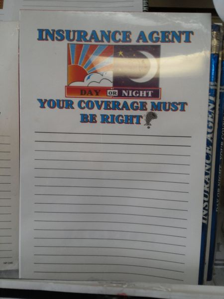 Insurance Agent Notepad