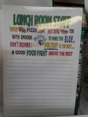 Lunch Roon Staff Notepad