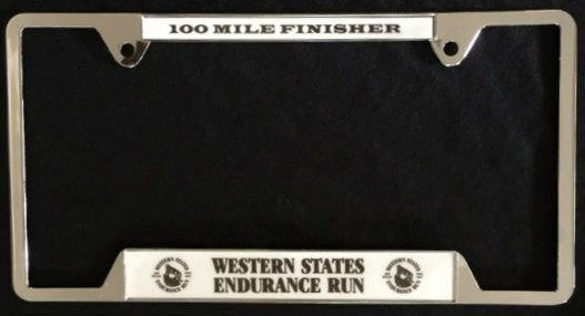 Finisher License Plate (Chrome)
