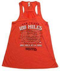 WOMEN'S 100 MILES TANK - CORAL