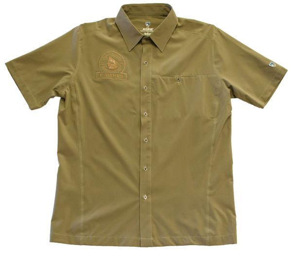 Men'sKUHL FINISHER RENEGADE Short Sleeve BUTTON UP-KHAKI