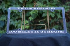 100 miles in 24 hours Plastic License Plate