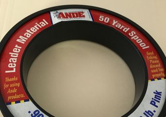 Ande Line - 50 yd spool Leader material 80 lb. Pink