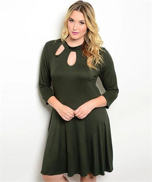 Vestido Verde Olivo Spandex