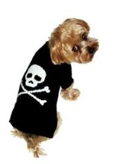 Sweater - Jolly Roger Black Skull