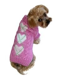 Sweater - Pink Argyle Heart