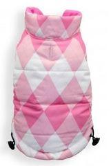Puffer Vest - Reversible Pink Argyle