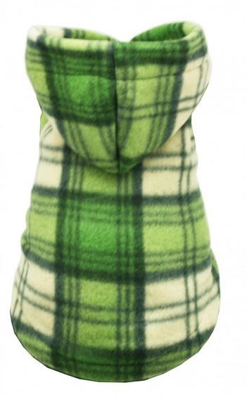 Fleece - Hip Doggie Green Plaid Hoodie