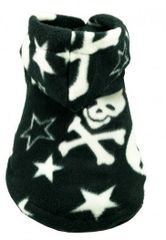 Fleece - Hip Doggie Black Skull Hoodie