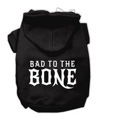 Hoodie - Bad to the Bone (three colors available)