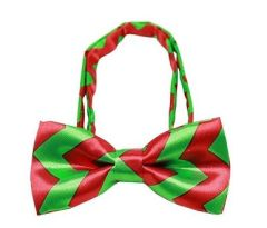 Bow Tie - Chevron Christmas