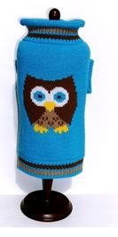 Sweater - Turquoise & Brown Owl