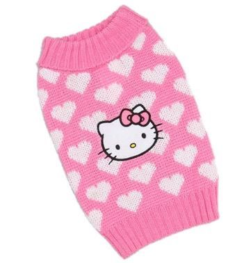 Sweater - Hello Kitty Pink & White Heart