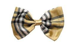 Bow Tie - Cream Plaid