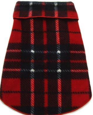 Fleece - Red Blanket Plaid Pullover