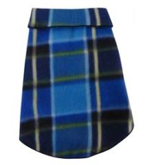 Fleece - Blue Blanket Plaid Pullover