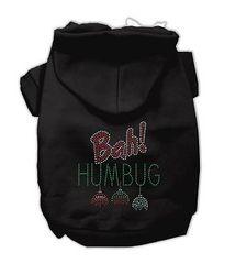 Hoodie - Bah Humbug Black Rhinestone