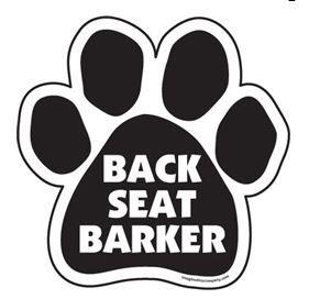 Magnet - Back Seat Barker