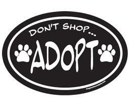 Magnet - Don't Shop Adopt