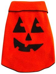 Fleece - Orange Pumpkin Face Pullover