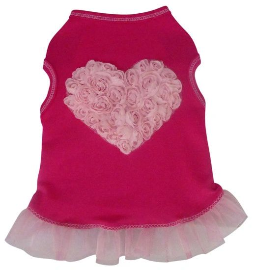 Tee Shirt - Hot Pink Tulle Rose