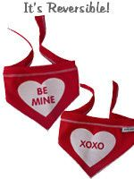 Bandana - Red Be Mine/XOXO Reversible