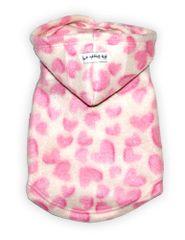 Fleece - Pink Hearts Hoodie
