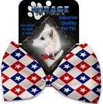 Bow Tie - Patriotic Checkered Stars