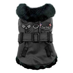 Black Top Dog Flight Coat