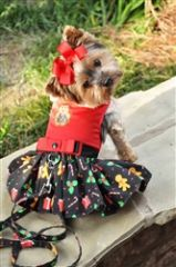 Holiday Gingerbread Dress with Leash