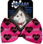 Bow Tie - Valentine's Pink Heart Love Bow Tie