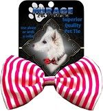 Bow Tie - Valentine's Pink and White Stripe Bow Tie